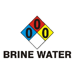 "Brine Water RTK Sign 8"" x 14"""