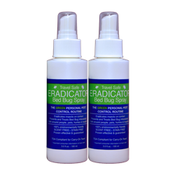 Travel Safe Bed Bug Eradicator Spray 3 oz 2/Pack