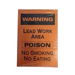 "Danger: Lead Poison Sign 14"" x 20"" 100/Pack"