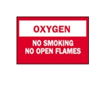 "Oxygen: No Smoking/Open Flames 7"" x 10"""