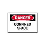 "Danger Confined Space Sign 7"" x 10"""