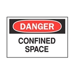 "Danger Confined Space Sticker 7"" x 10"""