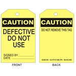 Caution Tag: Do Not Use 25/Pack