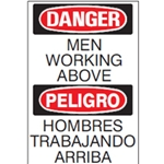 Bilingual Danger: Men Working Sign