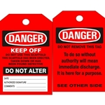 Red Scaffold Tag 25/pk