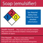 Soap NFPA Label