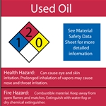 Used Oil NFPA Label