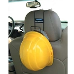 Over the Seat Hard hat Rack
