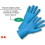 "12"" 21 mil Blue Latex Glove"