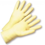 18 Mil Unlined Amber Latex Glove w/ Grip