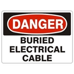 Danger Buried Electric Cable Sign