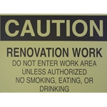 "Caution Renovation 14"" x 20"""