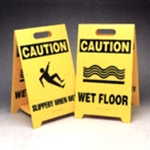 Fold Up Plastic Wet Floor Sign