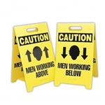 Men Working Above/Below Sign