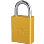 "1"" Keyed Different Yellow Lock w/Lockout Tag"