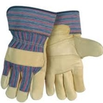 Patch Palm Grain Cowhide Leather Palm Gloves