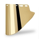 "Lexan 10"" x 18.5"" x .07 Gold Faceshield"