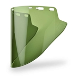 "Lexan 10"" x 18.5"" x 07 Green Faceshield"