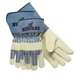 "Mustang Leather Glove w/ 4.5"" Cuff M"