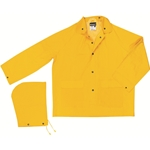 .35mm Yellow Rain Jacket w/ Detachable Hood