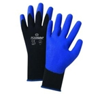 Blue PVC Palm/Black Nylon Gloves