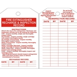 Fire Extinguisher Inspection Tag 10/Pack