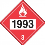DOT Placard - 1993 Flammable Liquids Sticker 10/ Pack