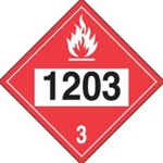 DOT Placard - 1203 Gasoline Sticker 10/ Pack