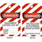 Laminated Lockout Tag 10/ Pack