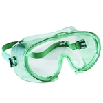 Jackson Safety* 202 V70 Monogoggle* Non-Vented Splash Dust Fume Goggles With Green Frame And Clear Lens