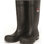 "16"" Black PVC Steel Toe Boot"