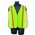 Yellow Safety Vest w/ Orange Stripes OSFA