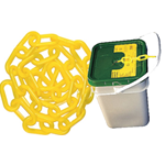 "2"" Plastic Yellow Chain 160' Pail"