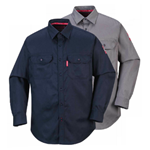 PORTWEST Long Sleeve Button Down Shirt Navy