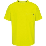 Men's Short Sleeve Solid Safety Tee Safety Yellow