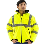 ANSI Class 3 PU coated polyester Bomber Jacket with fully taped seams
