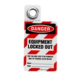 Equipment Locked Out Padlock Tag 25/ Pack