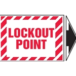 """Lockout Point"" adhesive vinyl sticker 5/Pack"
