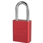 "Red Aluminum Lock 1-1/2"" Shackle KD"