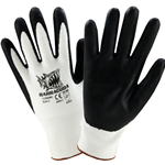 Barracuda White HPPE shell Glove w/black foam nitrile dip