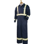 Flame-Resistant Cotton Coverall w/FR Reflective Tape