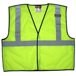 Economy Class 2 Lime Break away Mesh Velcro Vest