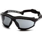 Isotope Gray H2MAX Anti-Fog Lens with Black Frame Safety Glass