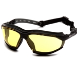 Isotope Amber H2MAX Anti-Fog Lens with Black Frame Safety Glass