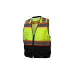 RVZ4420B Type R - Class 2 Hi-Vis Lime Safety Vest with Black Bottom