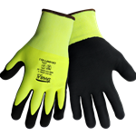 High-Visibility Cut Resistant Coated Gloves