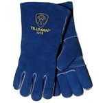 "14"" Blue Select Shoulder Split Cowhide Cotton/Foam Lined Standard Grade Stick Welders Gloves"