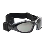 Fuselage Full Frame Safety Glasses with Black Frame, Foam Padding, Gray Lens and Anti-Scratch / FogLess 3Sixty Coating