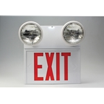 Exit Sign Lighted and Emergency Lights
