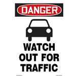 Danger Watch Out For Traffic Sign